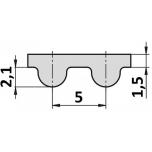 Synchrobelt HTD 5M  670 400mm Conti